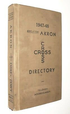 Akron OH 1947-48 Criss-Cross Telephone Book Haines Directory Phone Exchange Big