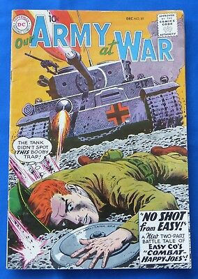 Vtg Our Army At War 89 Easy Company Russ Heath Cover Jack Abel DC Dec 1959 Comic