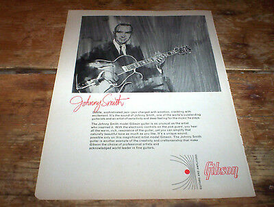 JOHNNY SMITH ( GIBSON GUITARS ) 1966 Vintage magazine PROMO Ad NM-