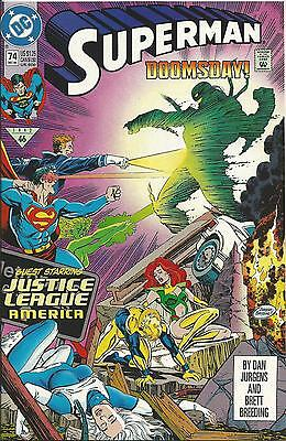 Superman #74 (Dc) 2Nd Series - 1987 (Doomsday)