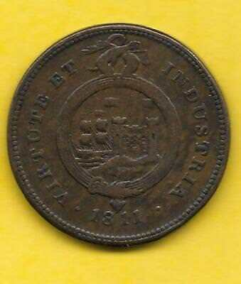 19th Century BRISTOL & SOUTHWALES One Penny Token
