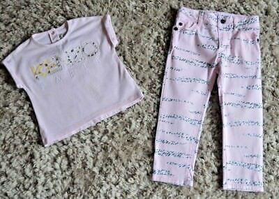 Baby Girls Kenzo Designer Clothes Tiger T-shirt & Jeans 2 Years Vgc