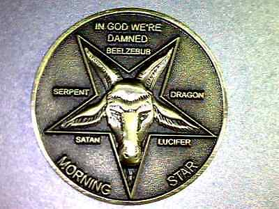 """Lucifer Morning Star  - TV Show Prop coin   - 1 1/4"""" Solid Brass 3D  Coin"""