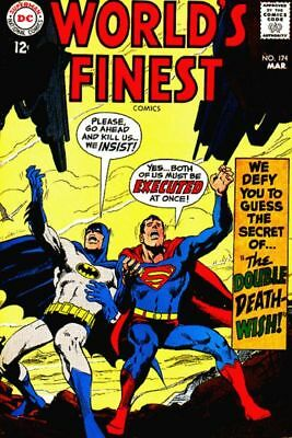 WORLD'S FINEST COMICS #174 F, SUPERMAN, BATMAN, Neal Adams C,  DC Comics 1968