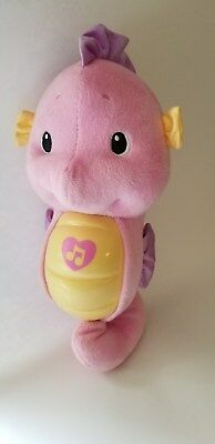 Fisher Price Ocean Wonders Soothe and Glow Musical Seahorse Hard to find PINK