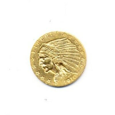 1910 $2.5 Indian Head Gold Exact Coin From A Near Complete Collection FREE Ship