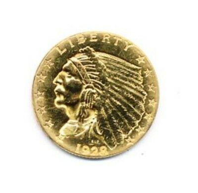 1928 $2.5 Indian Head Gold Exact Coin From A Near Complete Collection FREE Ship