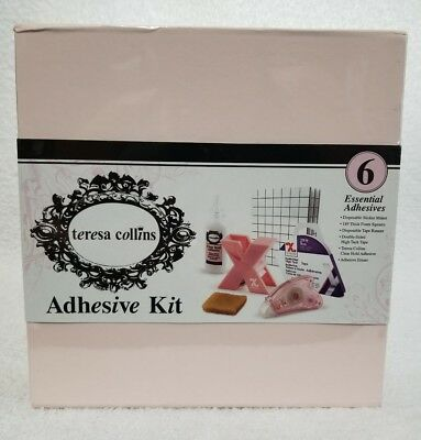 """Xyron Teresa Collins ADHESIVE KIT 6 Essential Clear Hold 1"""" Maker Tape Foam New"""