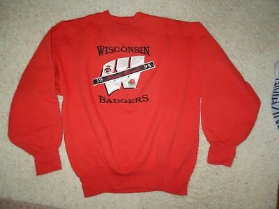 Vintage Wisconsin Badgers 1994 Rose Bowl Sweatshirt Adult Size L