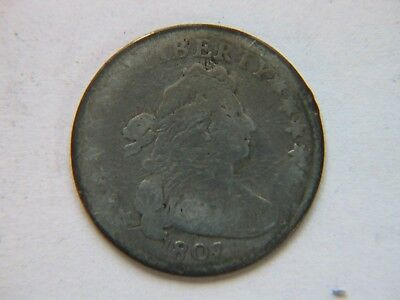1807 Draped Bust Silver Dime Rare Type Coin
