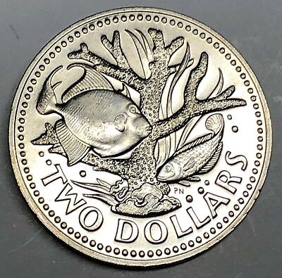 C5409   BARBADOS    COIN,     TWO  DOLLARS    1977  Proof
