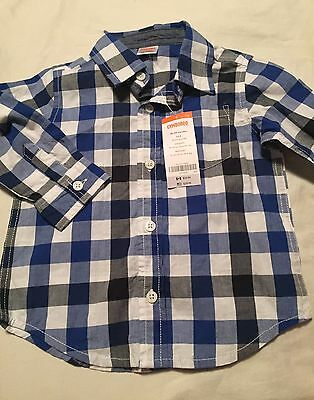 Gymboree Seas The Day Boys Long Sleeve Button Up Shirt Size 18-24 Months Nwt
