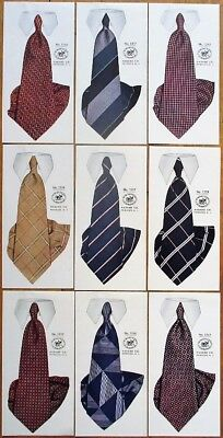 Necktie/Tie/Clothing 1920s NINE Advertising Prints - Haband Co. - Paterson, NJ