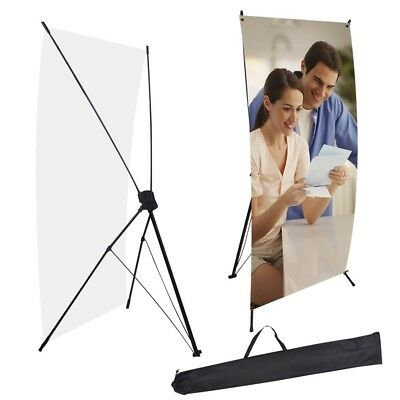 "2 PCS X Banner Stand 24"" x 63"" w/ Free Bag Trade Show Display Tripod Commercial"