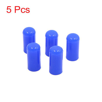 "5Pcs 6mm 1/4"" Silicone Blanking Cap Intake Vacuum Hose Tube End Bung Blue"