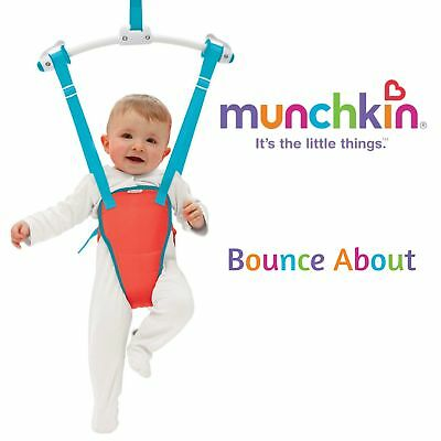 Munchkin Bounce About│Baby Door Bouncer Play Seat Jumping Fun│Adjustable Padded
