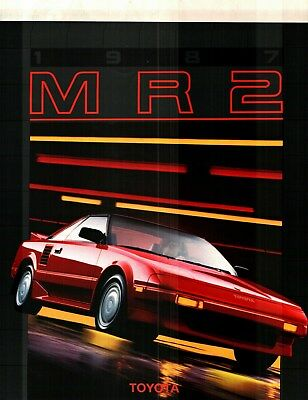 1987 Toyota Mr2 12 Page Deluxe Color Sales Catalog