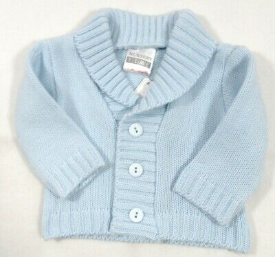Baby Clothes Boys Button Fashion Cardigan Smart V Neck Blue Knitted Cabal NB-24M