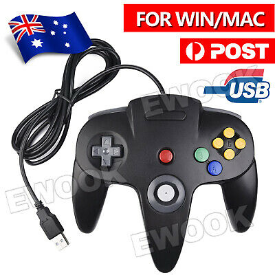 New NINTENDO 64 N64 GAMES CLASSIC GAMEPAD CONTROLLERS FOR USB TO PC / MAC AU