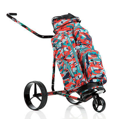JuCad Golf Camouflage Elektro-Trolley / Elektrocaddy aus Carbon mit Bag Aquastop