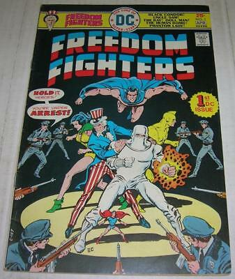 FREEDOM FIGHTERS #1 (DC Comics 1976) UNCLE SAM & PHANTOM LADY begin (FN)