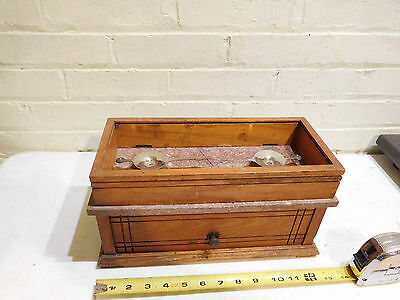 Vintage Antique Metal Egg Grader Postal Scale with Wood and Marble Hinged Box