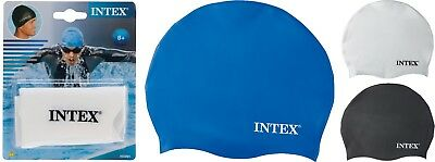 Intex Swimming Cap One Size Fits All Silicon Swimming Cap for Swimming Pool Sea