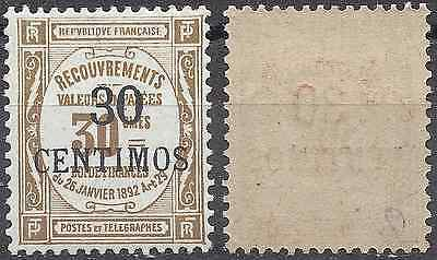 France Colony Morocco Tax N°8 - New With Original Gum - Value