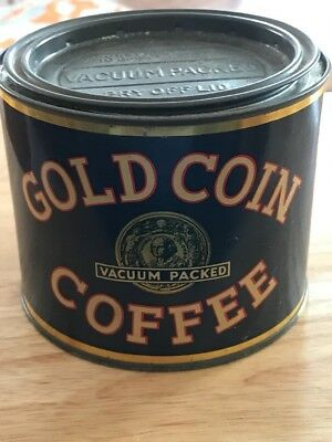 Rare Gold Coin 1 One Pound Coffee Can R. S. Gehlert Detroit