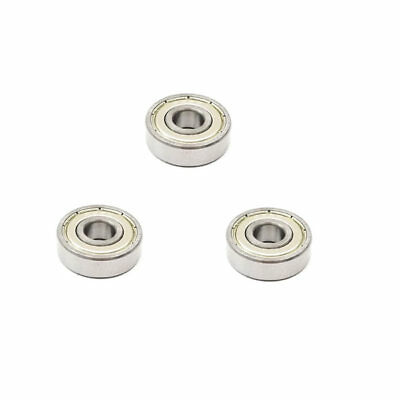 3x 628 ZZ Metal Sealed Deep Groove Ball Bearings - 8x24x8 mm