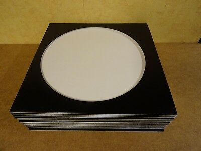 25 Cardboard Outer Cover Sleeves Black With Large Hole For Picture Disc Records