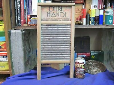 hardwood washboard DUBL HANDI LINGERIE size cloths washing VINTAGE antique