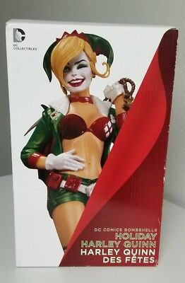 DC Collectibles DC Comics Bombshells HOLIDAY HARLEY QUINN Statue (Pre-owned)