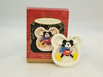Hallmark Ornament 1997 Mickey's Snow Angel - Disney's Mickey Mouse - #QXD4035