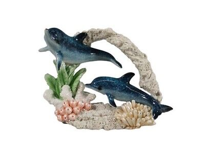 December Diamonds Swimming Dolphin Pair with Coral Figurine Sea Life 4342007 New