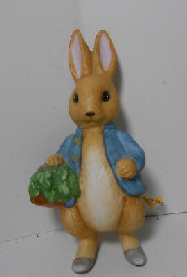 1990 Quality Porcelain Peter Rabbit Ornament~Beatrix Potter Sri Lanka