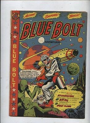 Blue Bolt 106 Golden age  comic Classic LB cole PopArt cvr Wolverton Kirby art