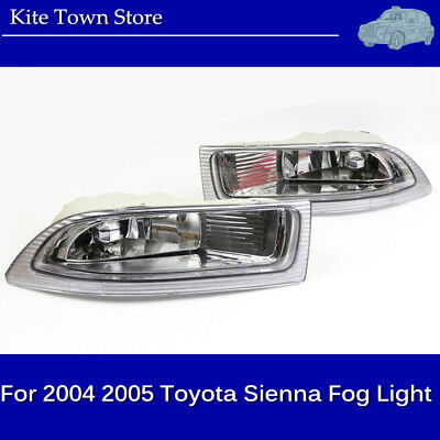 One Pair Left+ Right Front Fog Driving Lamp Light US For 2004 2005 Toyota Sienna