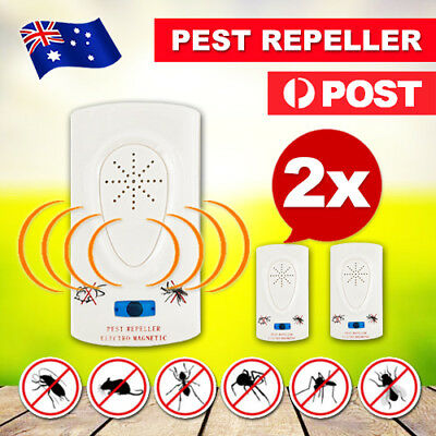 2X Pest Repeller-Ultrasonic-Electronic Mouse Rat Mosquito Insect Rodent Control