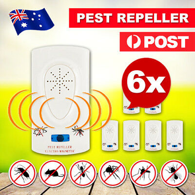 6X Pest Repeller-Ultrasonic-Electronic Mouse Rat Mosquito Insect Rodent Control