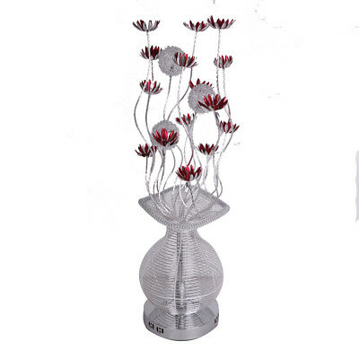 Large modern aluminium floor lamp flower vase design silver and red large modern aluminium floor lamp flower vase design silver and red light home aloadofball