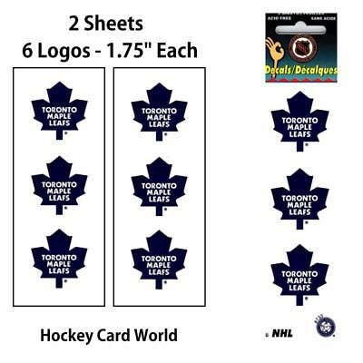 "(HCW) Toronto Maple Leafs 1.75"" Logo Stickers Decal (Pack of 2 Sheets)"