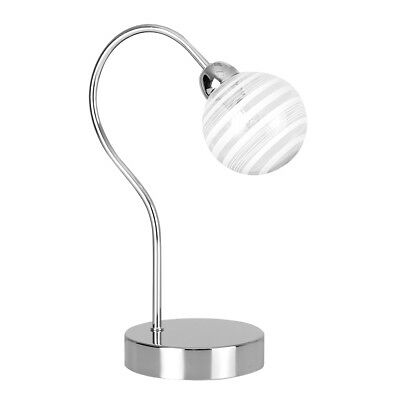 Modern polished chrome touch table lamp glass globe shade dimmable modern polished chrome touch table lamp glass globe shade dimmable bedside light aloadofball Gallery