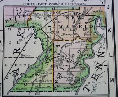 Rand Mcnally State Of Missouri Business Atlas Map Page Plate 1888 Vintage Large