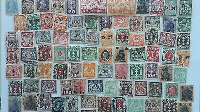 50 Different German States - Danzig Stamp Collection