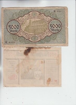 Germany Paper Money 8 old notes low grade and up