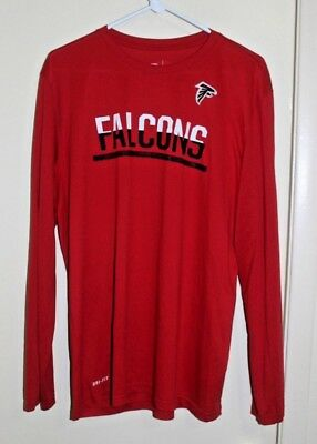NFL Football Nike Atlanta Falcons Dri Fit Training T Shirt Size X-Large Red  L d580d3c4c