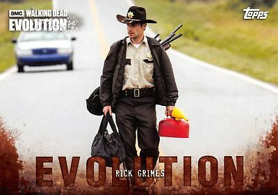 RICK GRIMES (Andrew Lincoln) Walking Dead Evolution BROWN PARALLEL Base Card #1