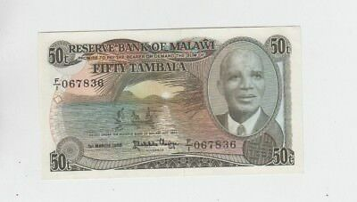 Malawi Paper Money one old note Choice uncirculated