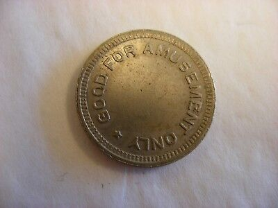 "Vtg Coin-op Slot Machine Vending Token - ""Good For Amusement Only No Cash Value"""